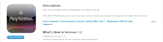 PlayStation App iOs